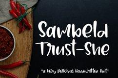 Sambeld Trust-She // Delicious Handwritten Font Product Image 1