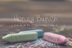 Honey Bunch, a childish handwritten font with skinny lines Product Image 1