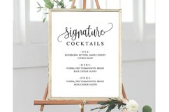 Signature Cocktail Sign Wedding Product Image 2