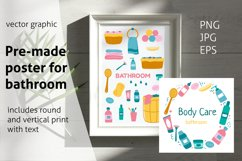 Wall art for Barhroom Sublimation Product Image 1