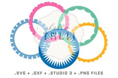 Round Frames SVG Cut Files BUNDLE Product Image 2