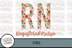 Registered Nurse, RN, Floral - PNG Sublimation File Product Image 1