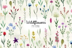 Watercolor Wildflowers. Patterns Product Image 1