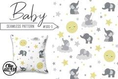 Unisex Elephant Seamless Pattern, Dark-Light Gray, Yellow Product Image 1