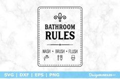 Bathroom Rules - Wash | Brush | Flush SVG File Product Image 1