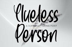 Web Font CluelessPerson - Script Lettering Font Product Image 1