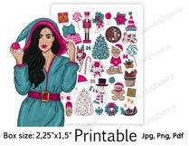 "Christmas Printable Sticker BoxSize 2,25""x1,5"" Product Image 3"