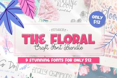 The Floral Craft Font Bundle Product Image 1