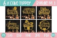 Cake Topper Bundle SVG | Happy Birthday SVG Bundle Product Image 1