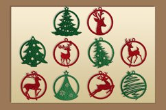 10 Leather Christmas earrings svg bundle Necklace svg Product Image 3