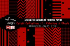 16 seamless Digital Papers - Crimson and Black- HC148 Product Image 1