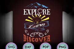 EXPLORE, LEARN, DISCOVER, Quote, SVG Design for Crafters Product Image 1