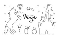 Fairy tale magic silhouettes with poster concept Product Image 5