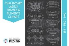 Chalkboard Digital Frame Clipart, Digital Label clipart set Product Image 1