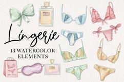 Lingerie Watercolor 13 Elements Perfume Panties Bras Lace Product Image 1