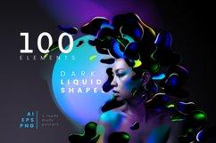 Dark liquid shapes / Set of graphic elements Product Image 1