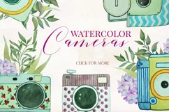 Watercolor Vintage Cameras Product Image 6