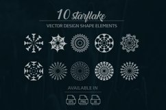 10 starflake vector design elements Product Image 1
