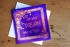 Floral Scribble Frames - Single line Designs  Foil Quill Product Image 5