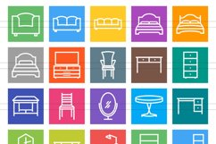 50 Furniture Line Multicolor B/G Icons Product Image 2