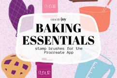 Baking Essentials Stamp Brushes for Procreate Product Image 1