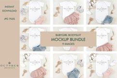 Mockup bundle JPG   Baby Girl Bodysuit White   Sublimate bla Product Image 1