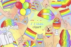 Pride CLIPART LGBT Gay Lesbian Party Planner Stickers - PNG Product Image 1