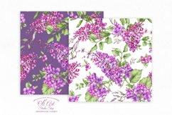 Watercolor Lilac Digital paper bag Product Image 3