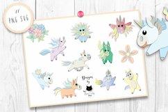 Rainbow Unicorn Clipart | Unicorn SVG Bundle Product Image 2