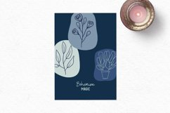 Hand-drawn boho clipart   Bohemian plants and flower clipart Product Image 4