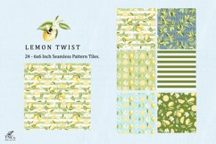 Lemon Fruit Seamless Pattern Tiles 6 x 6 Inches. Product Image 4