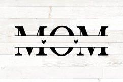 Mothers Day svg, mom svg, mom kid names split monogram Product Image 2