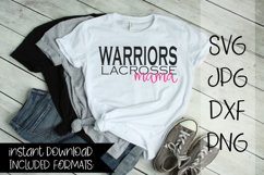 Warriors Lacrosse Mama, A Lacrosse SVG Product Image 1