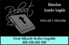 Reboot - Faith - Bible Rhinestone SVG Template Product Image 1