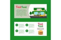 Fast food restaurant horizontal flyers Product Image 1