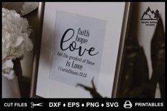 Faith Hope Love SVG & Printable, Bible, 1 Corinthians 13-13 Product Image 4