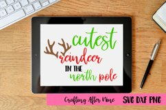 Cutest Reindeer in the North Pole Svg, Holiday, Christmas Product Image 1