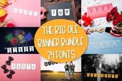 The Big Ole Banner Bundle 24 Fonts Product Image 1