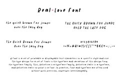 Real Love Hand Drawn Font Product Image 2