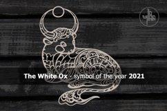 Ox, Symbol of the Year 2021, Decorative animal art Product Image 2