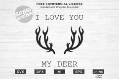 I Love You My Deer Design for T-Shirt, Hoodies, Mugs Product Image 1