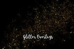 Yellow Glitter Overlays, Gold Glitter Bokeh Overlays Product Image 3