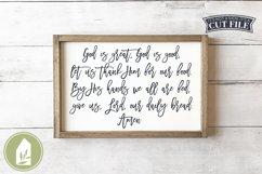God Is Great God Is Good SVG, Prayer SVG, Christian SVG Product Image 1