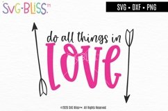 Do All Things In Love- Bible Verse Valentine SVG Cut File Product Image 1