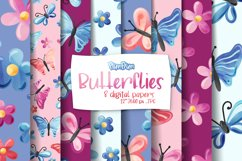 Butterflies Digital Papers Product Image 1