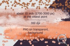 Terracotta Brush Stroke Clipart, Brown Watercolor Brush, PNG Product Image 4