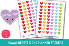 Kawaii Hearts Icons Planner Stickers- Hearts Planner Sticker Product Image 1