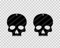 Skull earrings svg,Skull svg,Jewelry svg,Cricut silhouette Product Image 2