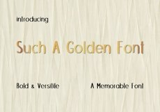 Such A Golden Font Product Image 1