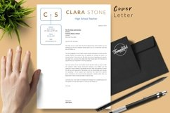 Teacher Resume CV Template for Word & Pages Clara Stone Product Image 5